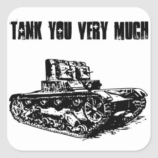 Tank You Very Much Sticker