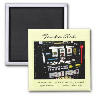 Tanka Art Slot Machine Magnet