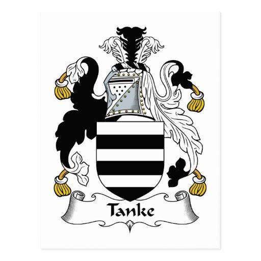 Tanke Family Crest Post Card