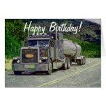 Tanker Truck Funny Trucker Birthday Cards