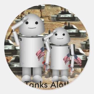 Tanks A Lot! Sticker