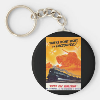 Tanks Don't Fight in Factories Key Ring