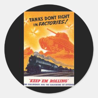 Tanks Don't Fight in Factories Sticker