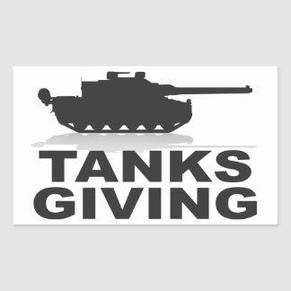 Tanks Giving Rectangular Sticker