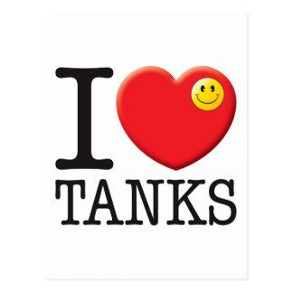 Tanks Love Postcard