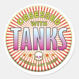 Tanks Obsessed R Sticker