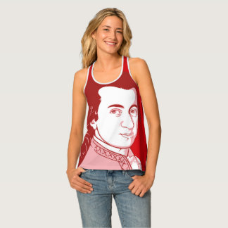 Tanktop with Mozart - Cartoon Style Singlet