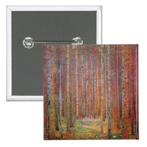 Tannenwald I by Gustav Klimt Pinback Button