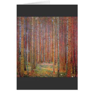 Tannenwald I by Gustav Klimt Card