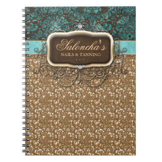 Tanning Fashion Real Estate Chandelier Glitter Spiral Notebook