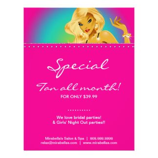Tanning Flyer Rainbow Jewelry Woman Pink