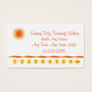 Tanning Salon - Customer Loyalty Punch Card -