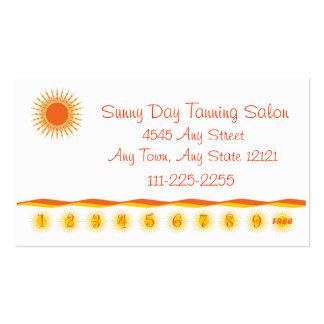 Tanning Salon - Customer Loyalty Punch Card - Business Cards