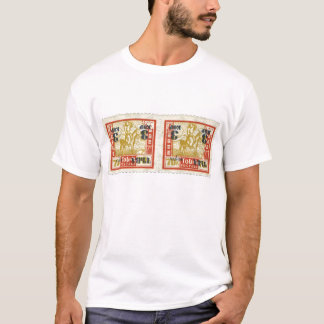 Tannu Tuva 70 Man on Horse Stamp Pair T-Shirt