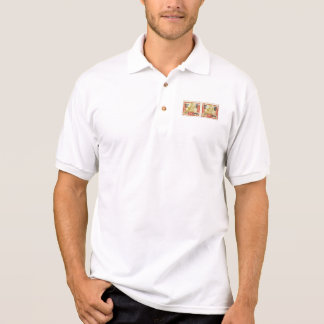 Tannu Tuva 70 Man on Horse Stamp Pair Polo Shirts