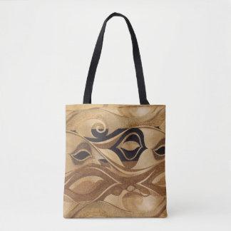 Tans & Black Tote Bag