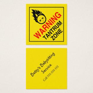 Tantrum Zone Square Business Card