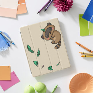 Tanuki and Leaves iPad Cover