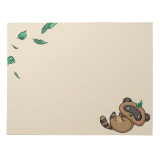 Tanuki and Leaves Notepad