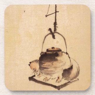 Tanuki by Katsushika Hokusai Beverage Coasters