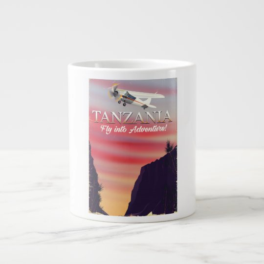Tanzania African flight poster Giant Coffee Mug