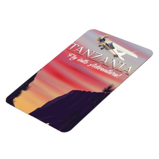 Tanzania African flight poster Magnet