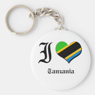 Tanzania Basic Round Button Key Ring
