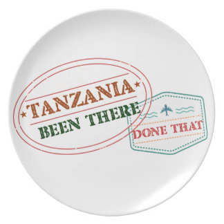 Tanzania Been There Done That Plate