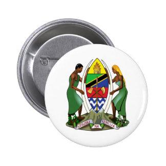 Tanzania coat of arms 6 cm round badge