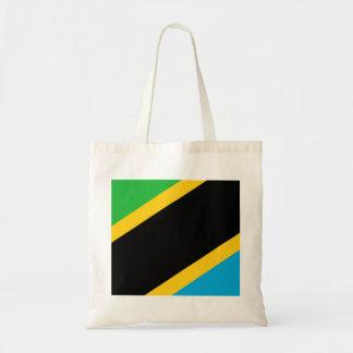 Tanzania country flag nation symbol budget tote bag