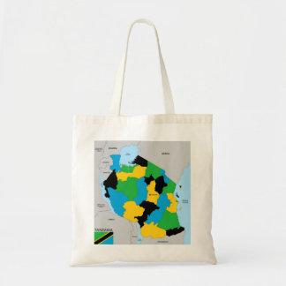 Tanzania country political map flag bags