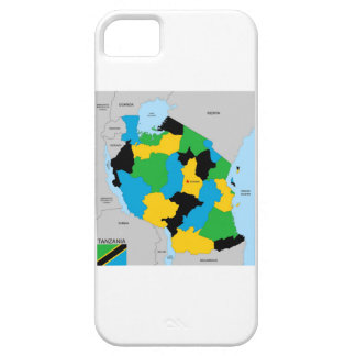 Tanzania country political map flag iPhone 5 cases
