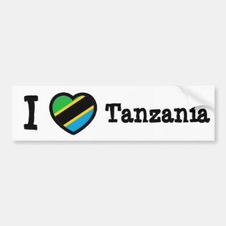 Tanzania Flag Car Bumper Sticker