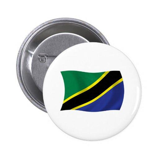 Tanzania Flag Button