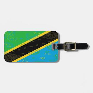 Tanzania Flag Luggage Tag