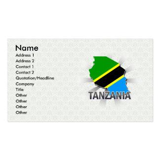 Tanzania Flag Map 2.0 Business Card