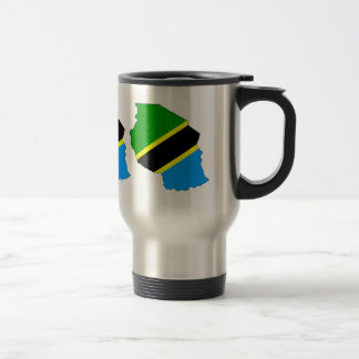 Tanzania Flag Map full size Travel Mug