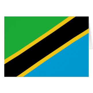 Tanzania Flag Note Card