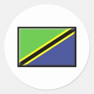 Tanzania Flag Round Sticker