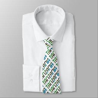 Tanzania Flag Typography Pattern Tie