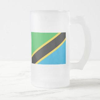 tanzania frosted glass mug