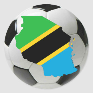 Tanzania national team classic round sticker