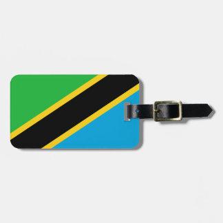 Tanzania National World Flag Luggage Tag