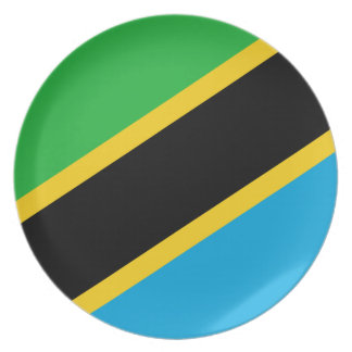 Tanzania National World Flag Plate