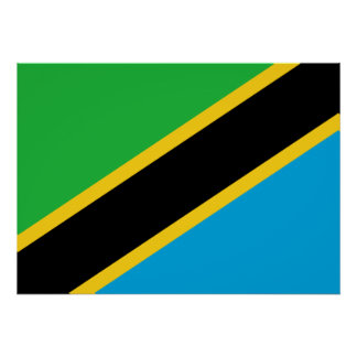 Tanzania National World Flag Poster