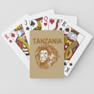 Tanzania With Lion Playing Cards