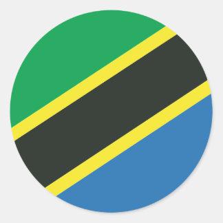 Tanzanian flag classic round sticker
