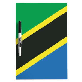 Tanzanian flag dry erase board