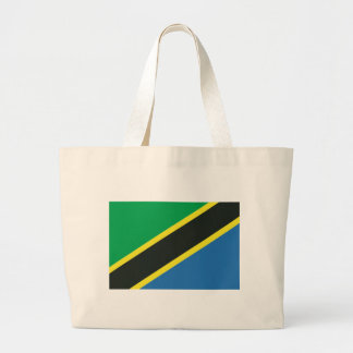 Tanzanian flag large tote bag