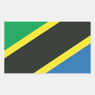 Tanzanian flag rectangular sticker